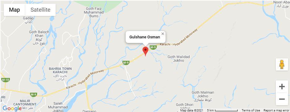 gulshan-e-osman-karachi-Location