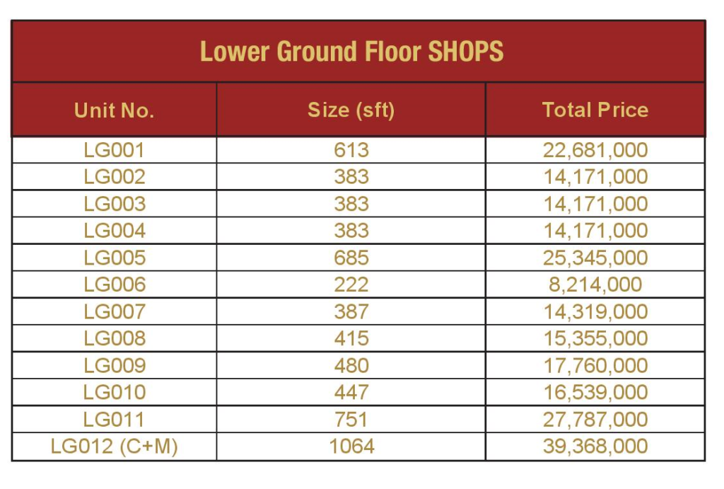 lower-ground-floor-shops-Payment-Plan-and-price-Mall-VIII-mamtaz-city-islamabad
