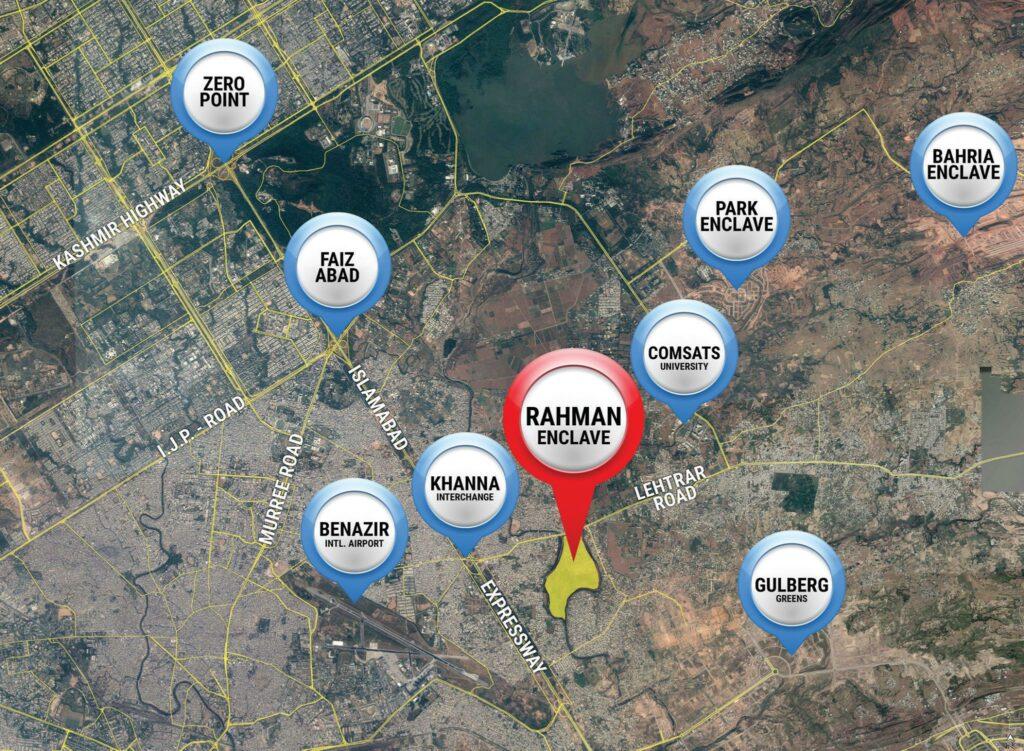 rahman enclave Location Map