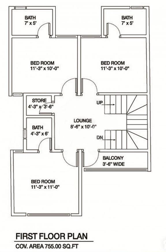 First-Floor-Plan-Map-Al-Syed-Residency-Karachi