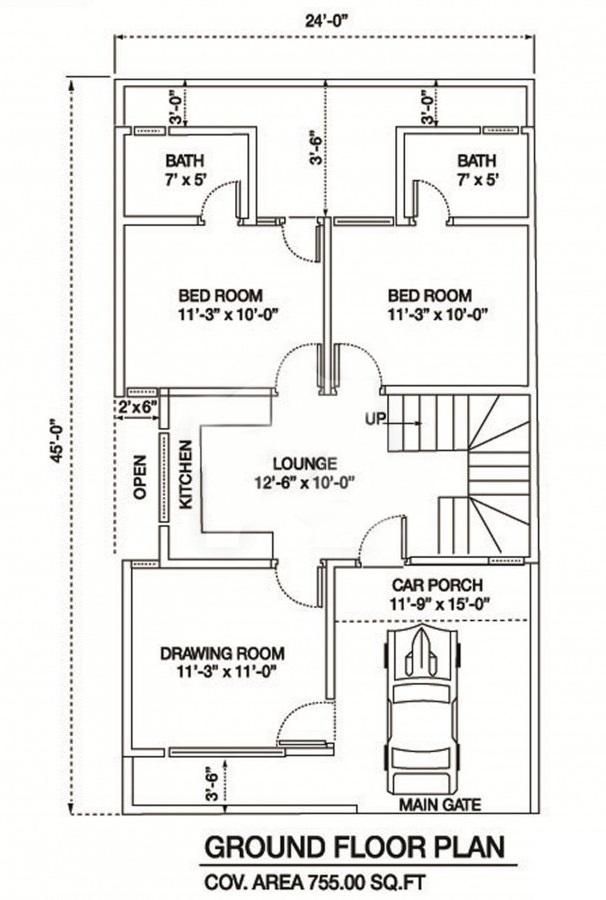Ground-Floor-Layout-Plan-Al-Syed-Residency-Karachi