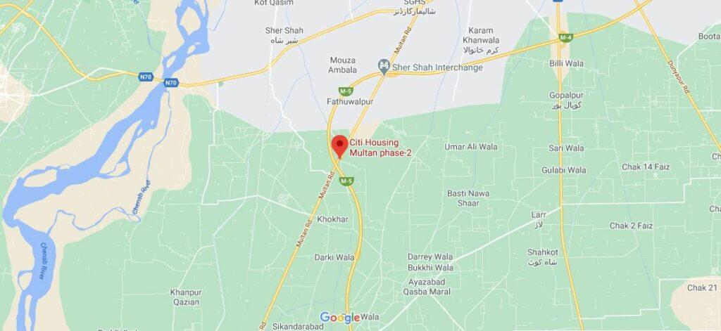 Location-Citi-Housing-Multan-Phase-2