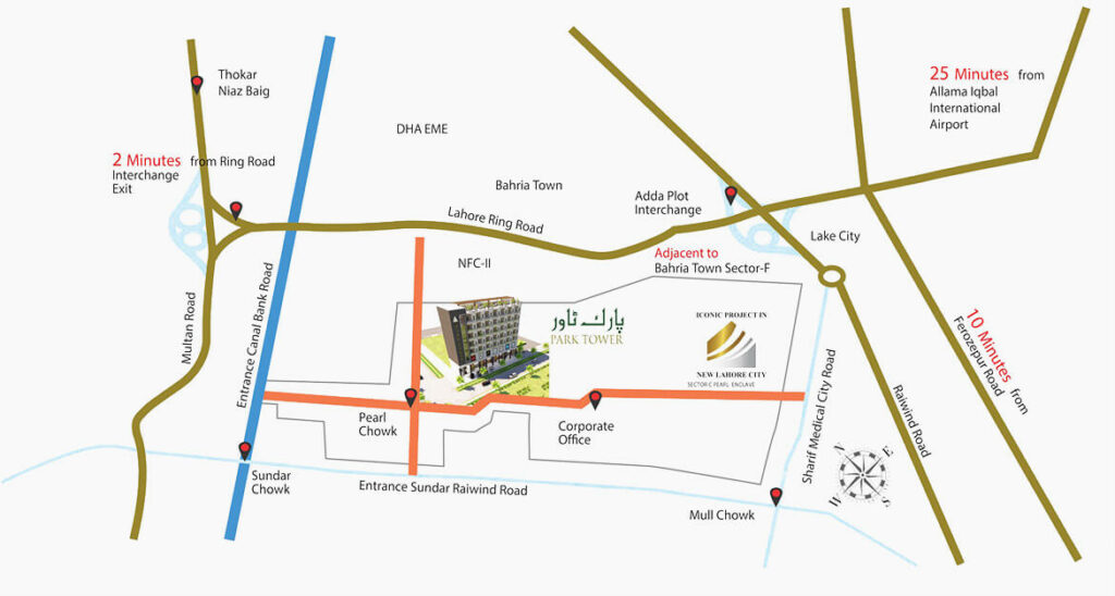 Location-Map-Park-Tower-Lahore
