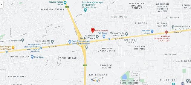 Location-Map-Royal-Enclave-Lahore