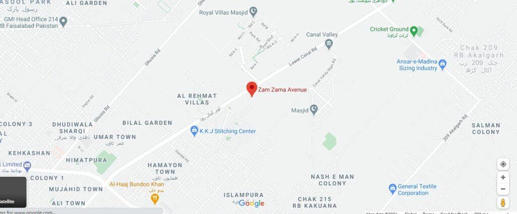 Location-Map-zam-zama-Avenue