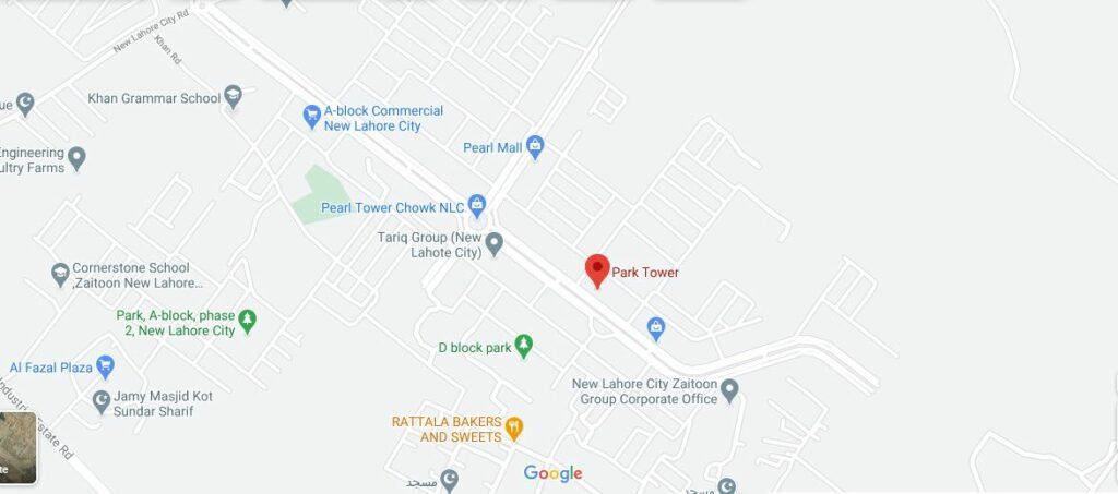 Location-Park-tower-zaitoon-new-lahore-city