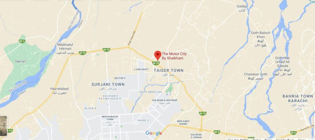 Location-The-Motor-City-Karachi