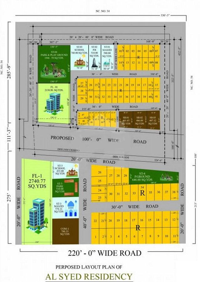 Master-Layout-Plan-Al-Syed-Residency-Karachi