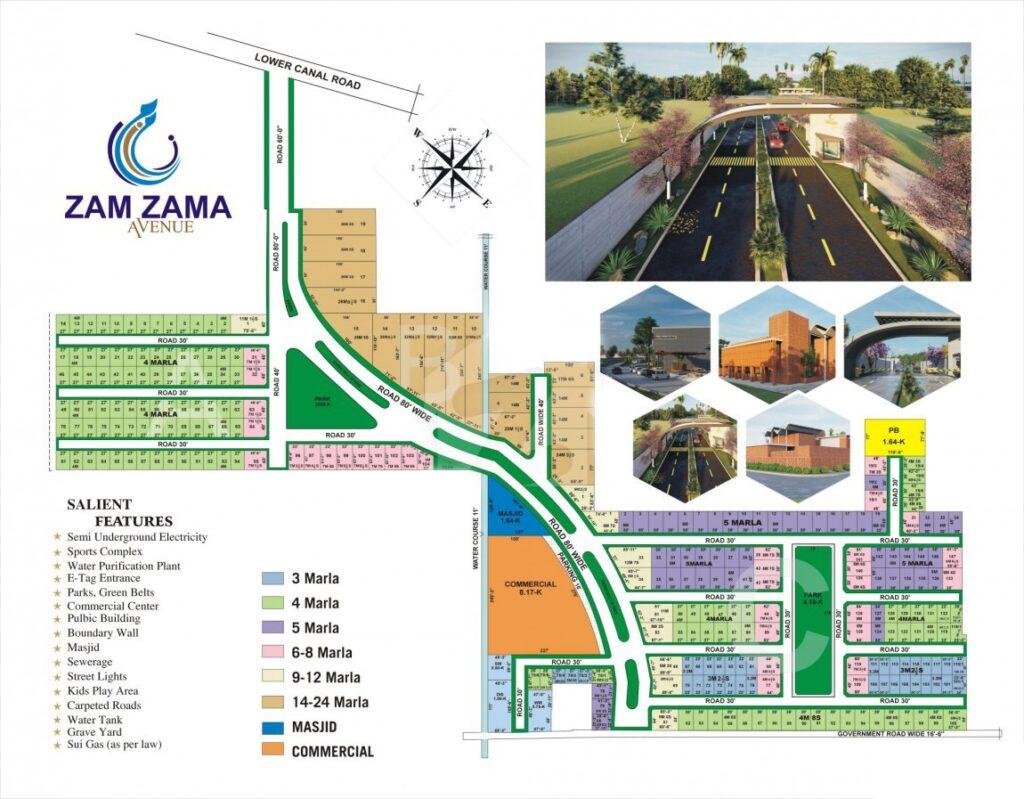 Master-Plan-Map-Zam-Zama-Avenue