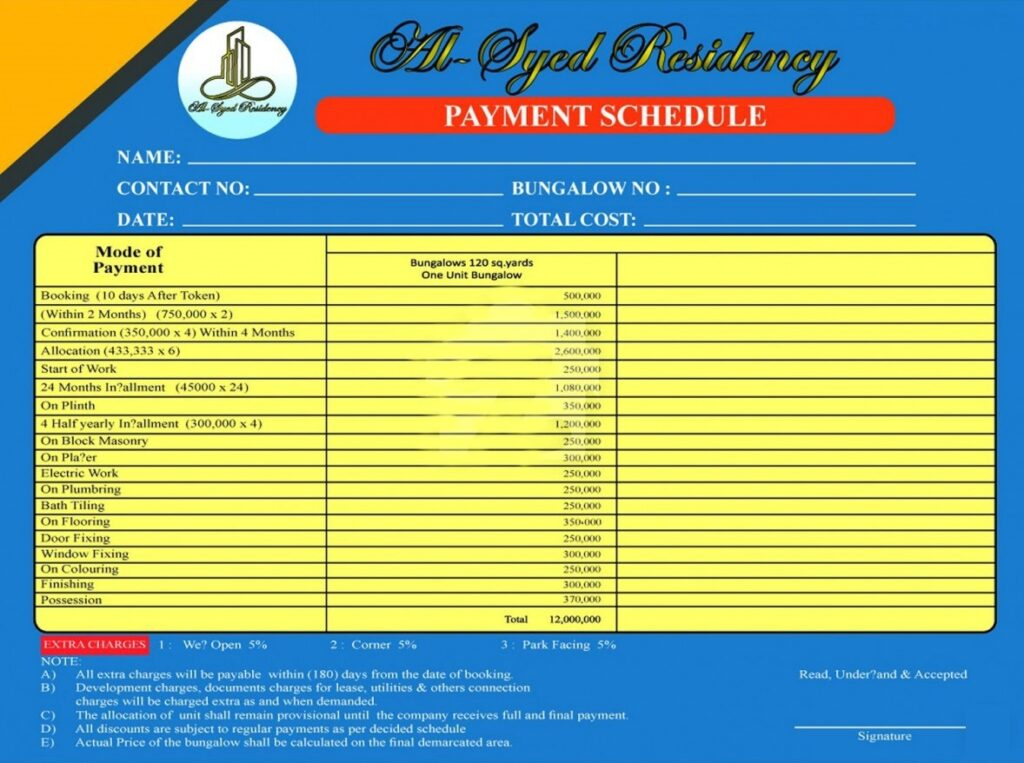 ATTACHMENT DETAILS  Payment-Plan-and-Price-plan-Al-Syed-Residency-Karachi