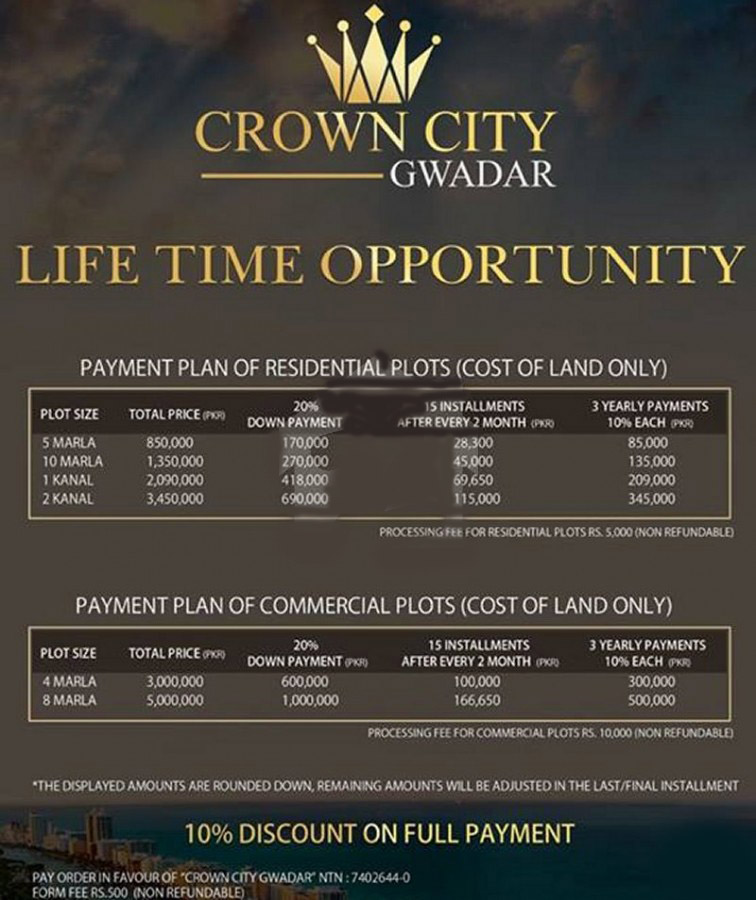 Payment-Plan-crown-city-Gwadar