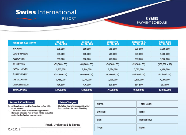 Price-Plan-Swiss-International-hotel