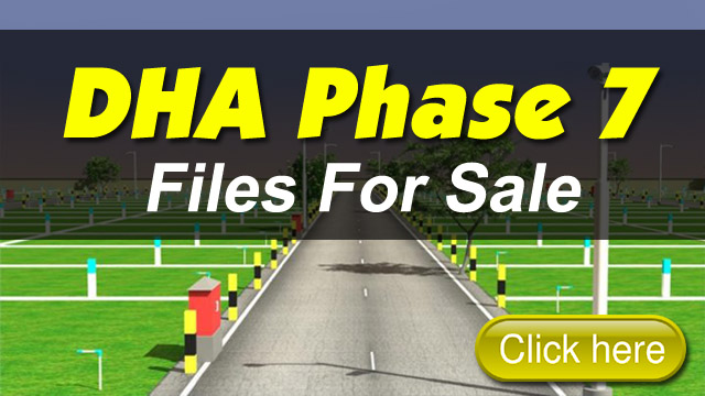 Plot Files for Sale in DHA Phase 7 Lahore