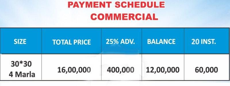 payment-plan-Commercial-plot-park-town