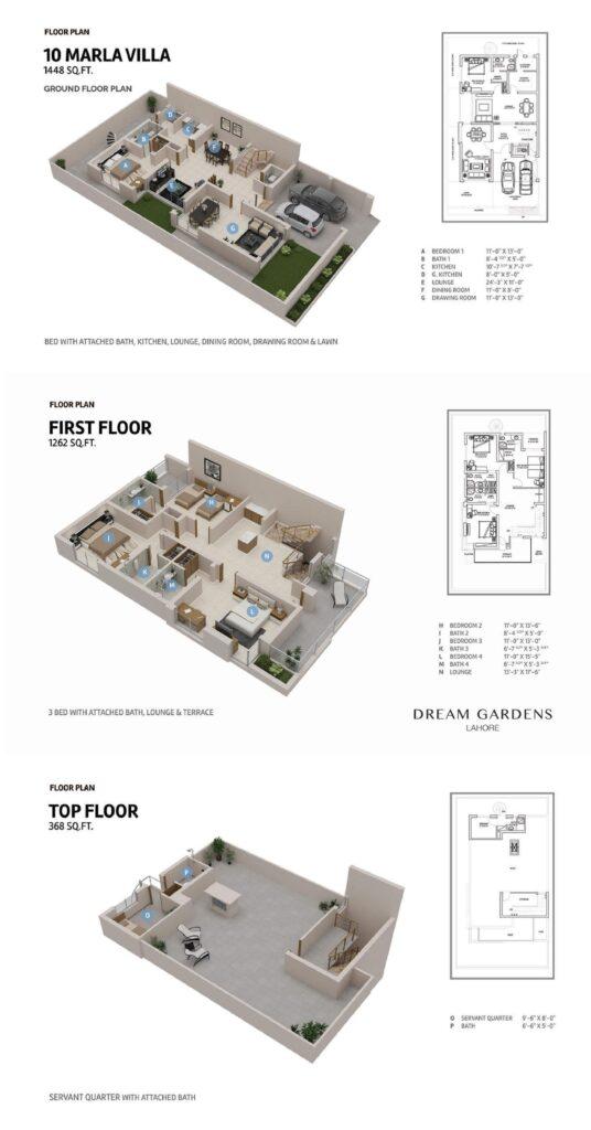10-Marla-Villa-Floor-Plan-Dream-Gardens-Lahore-Phase-2