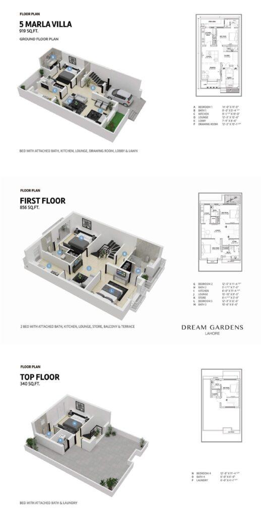 5-Marla-Villa-Floor-Plan-Dream-Gardens-Lahore-Phase-2