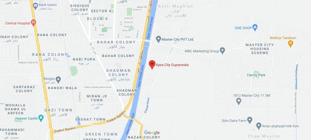Location-Ajwa-City-Gujranwala