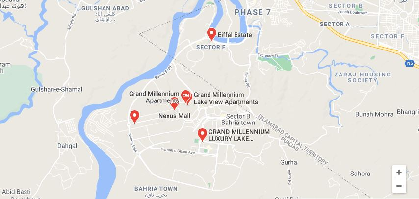 Location-Map-Millennium-Hotel-Apartment-Bahria-Town-Islamabad