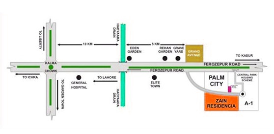 Location-Map-Zain-Residencia-Lahore