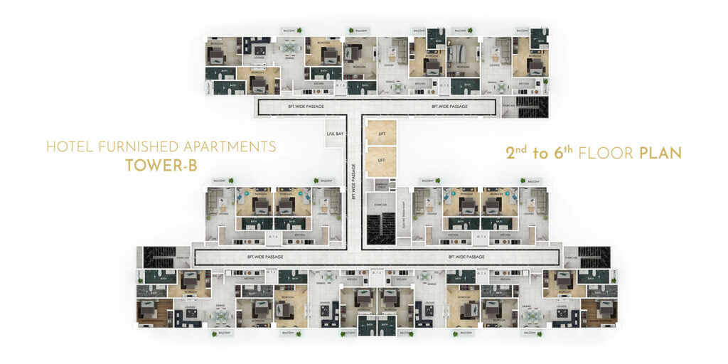 second-tower-2-to-6-floor-plan-grand-millennium-Bahria-Town-islamabad