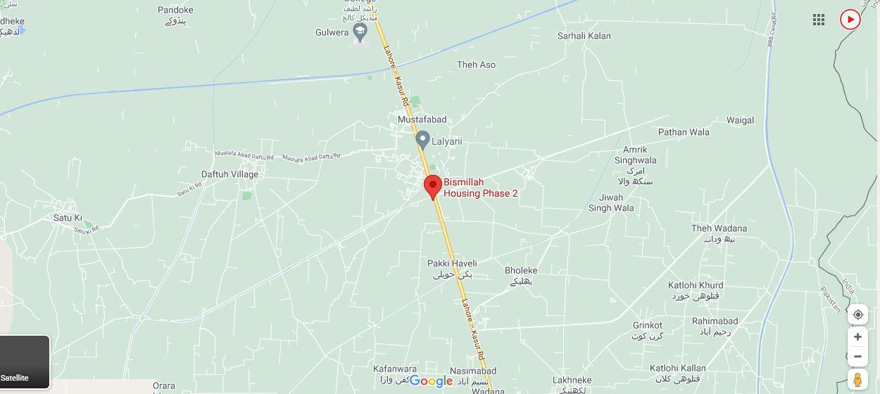 Location Map Bismillah Housing Scheme Phase 2
