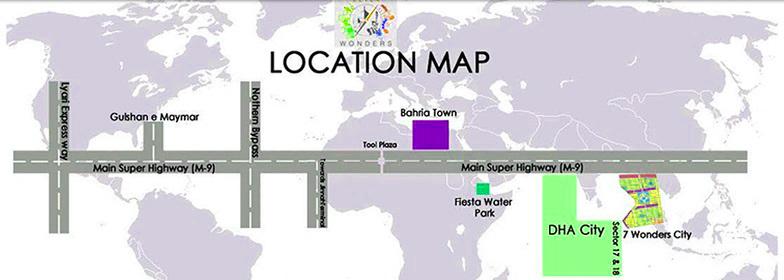 Location-Map-Seven-Wonders-City-Karachi