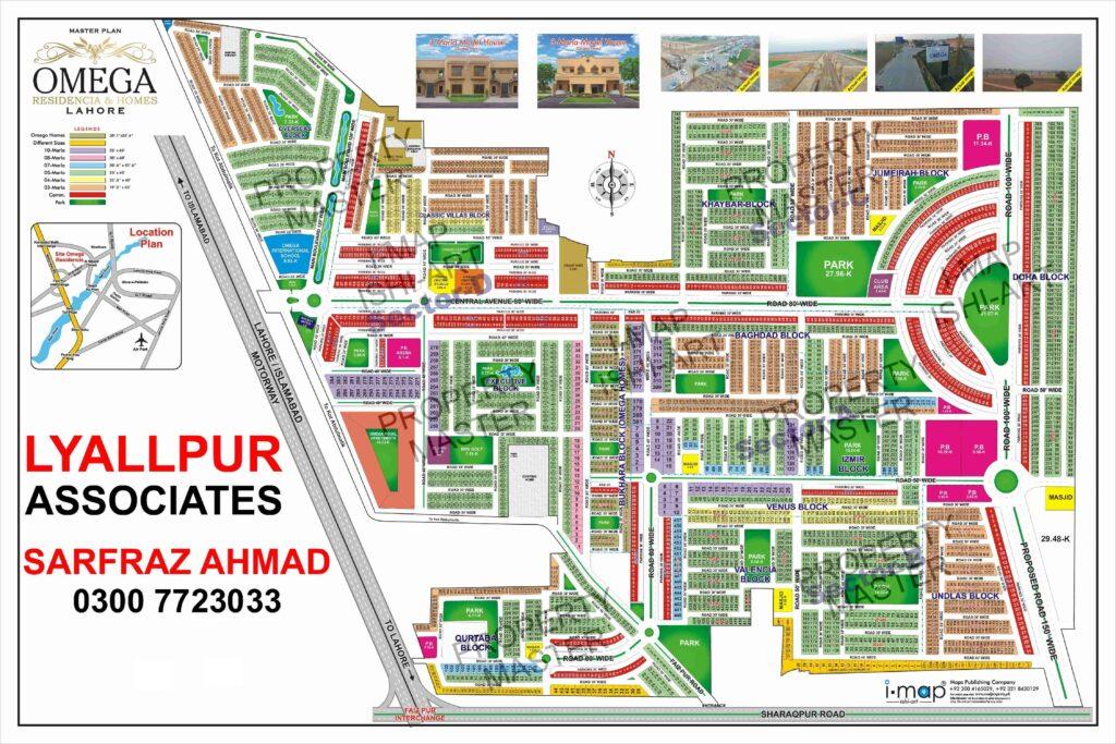 Master Plan - Omega Residencia Lahore