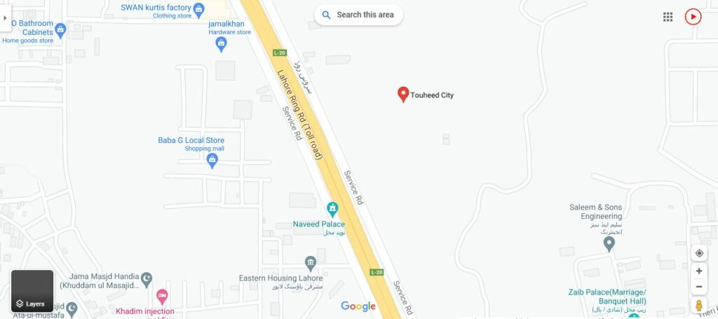 location-map-touheed-city-lahore