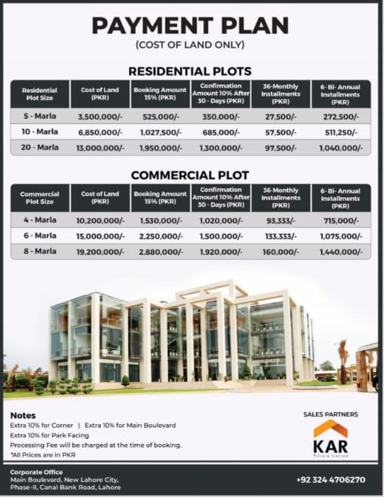 zaitoon city Lahore New Payment Plan 2021