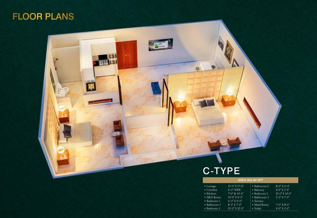 C-Type-floor-layout-plan-map-MIDTOWN-TOWERS