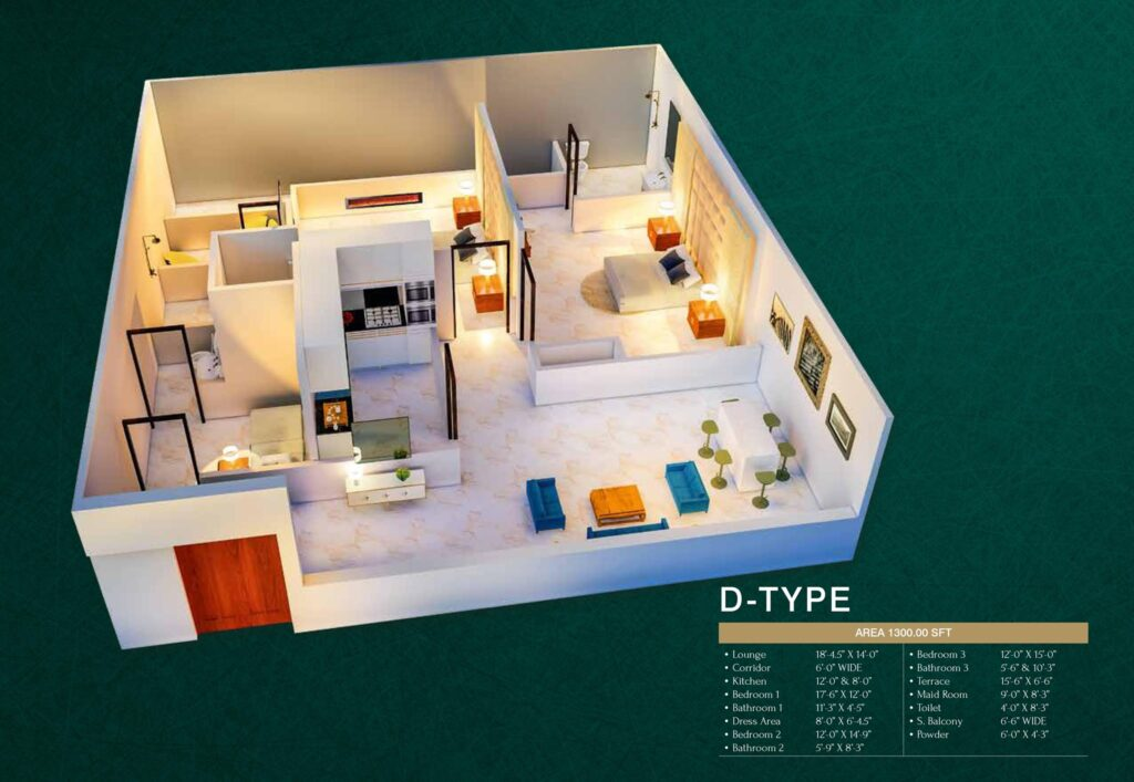 D-Type-floor-layout-plan-map-MIDTOWN-TOWERS
