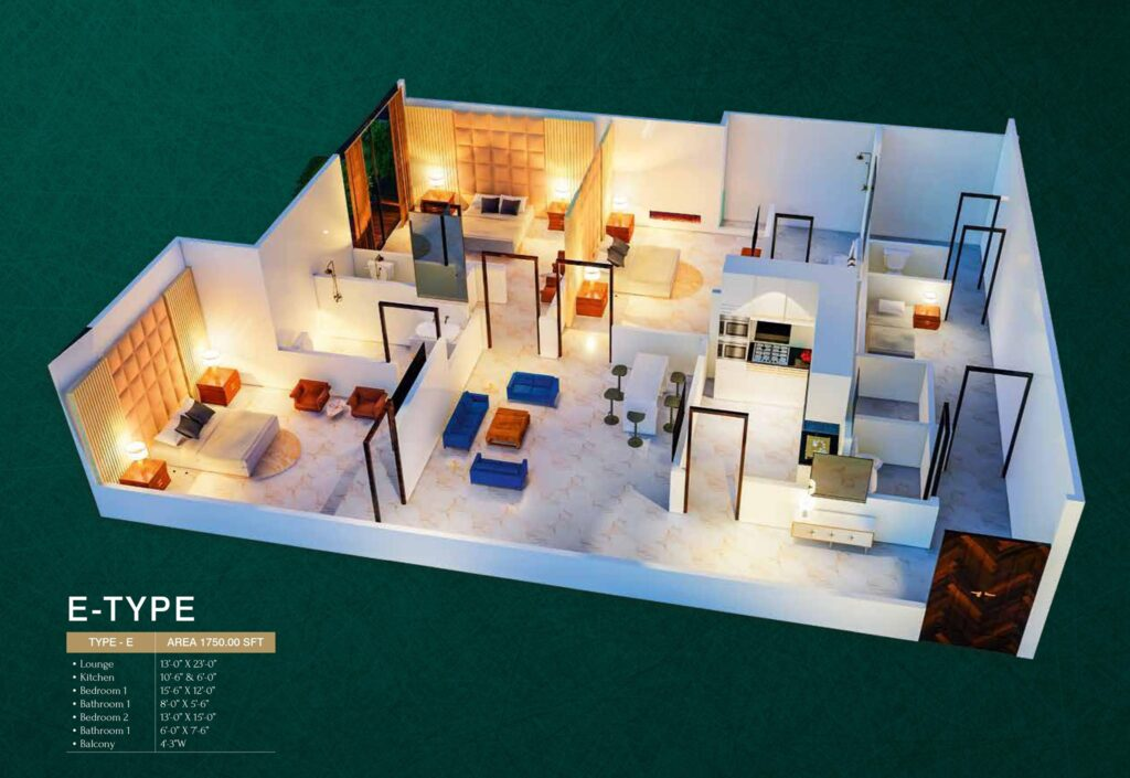 E-Type-floor-layout-plan-map-MIDTOWN-TOWERS
