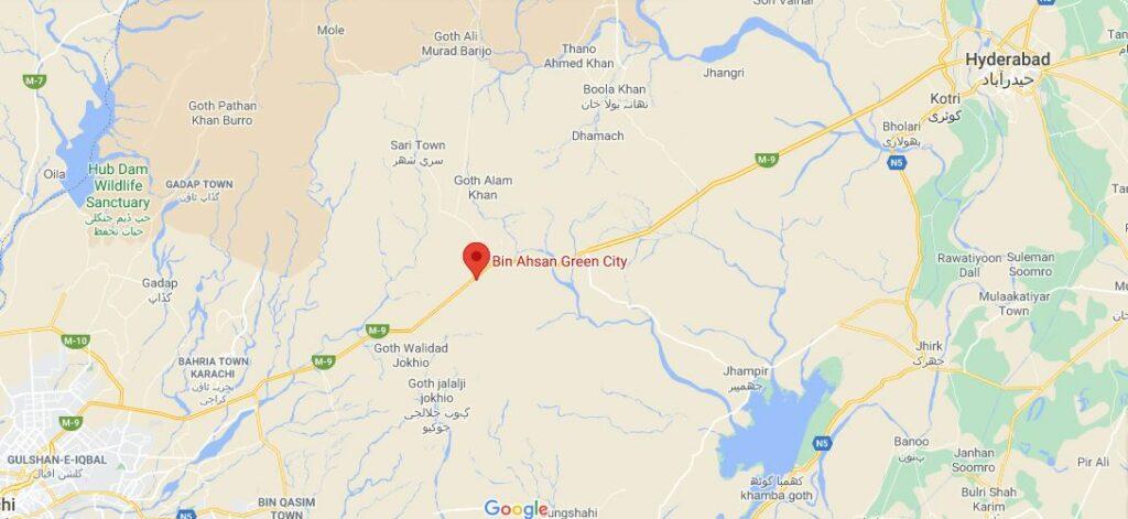 Location-Map-Bin-Ahsan-Green-City