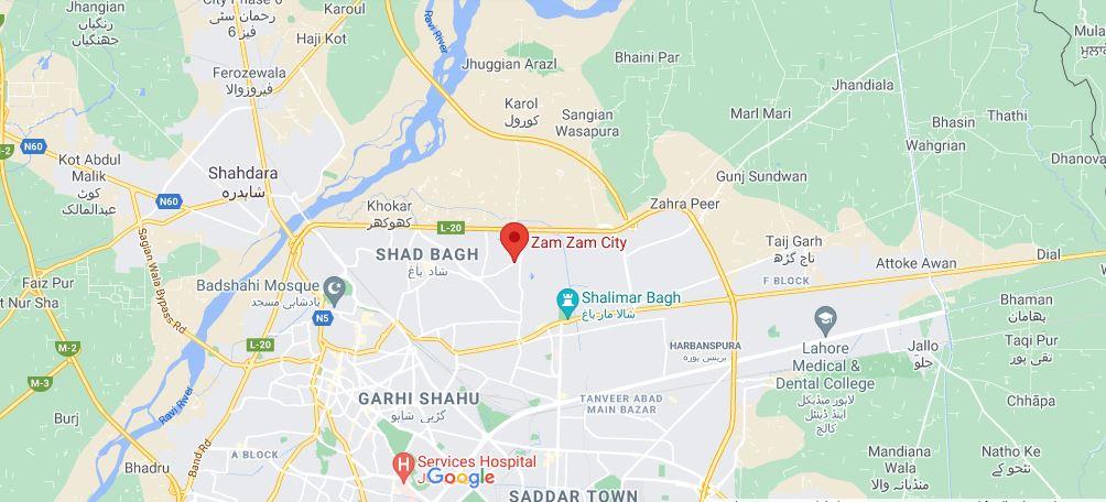 Location-Map-zam-zam-city-lahore