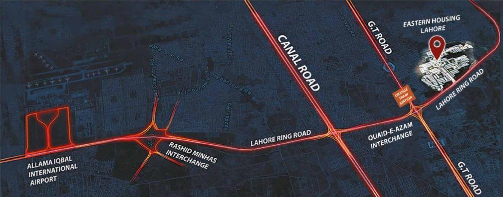 Location-map-Eastern-Housing-Scheme-Lahore