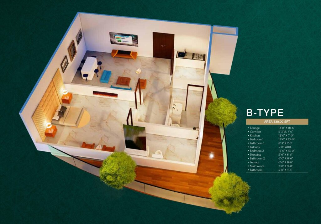 floor-layout-B-plan-map-MIDTOWN-TOWERS