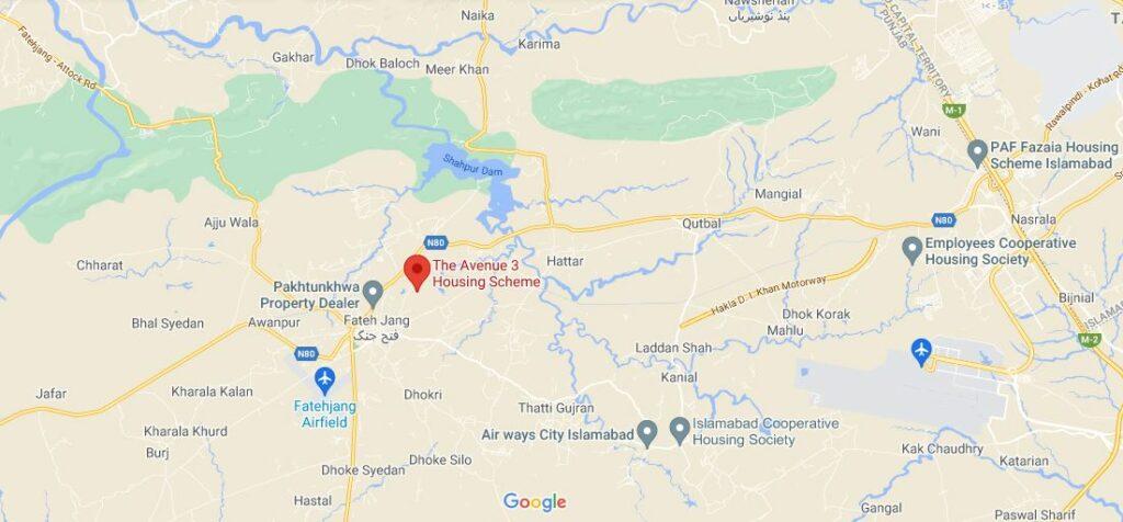 location-Map-avenue-3-housing-society-islamabad