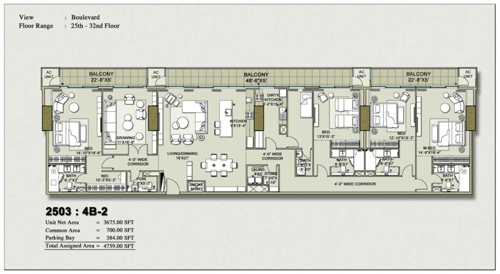 4-bedroom-layout-Plan-Map-2