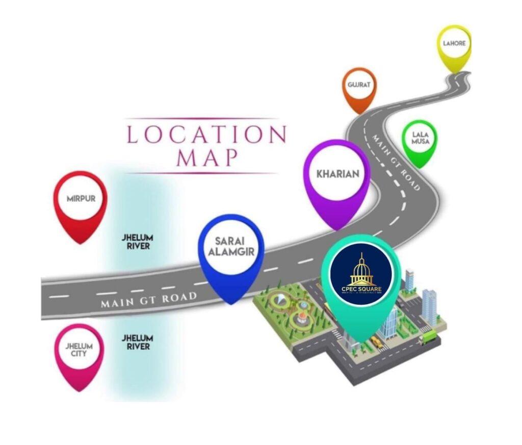 Location-Map-CPEC-Square-Mall-Residency-New-Metro-City-Sarai-Alamghir