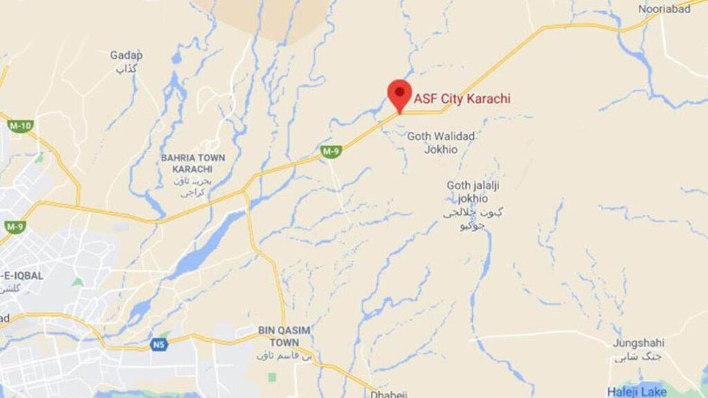 Location-map-ASF-City-Karachi