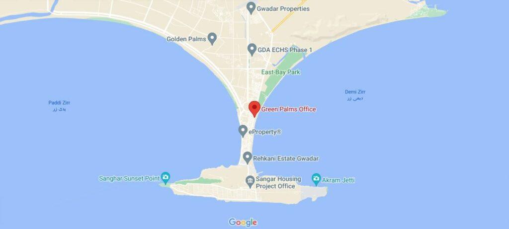 Location-map-Green-Palm-Gwadar