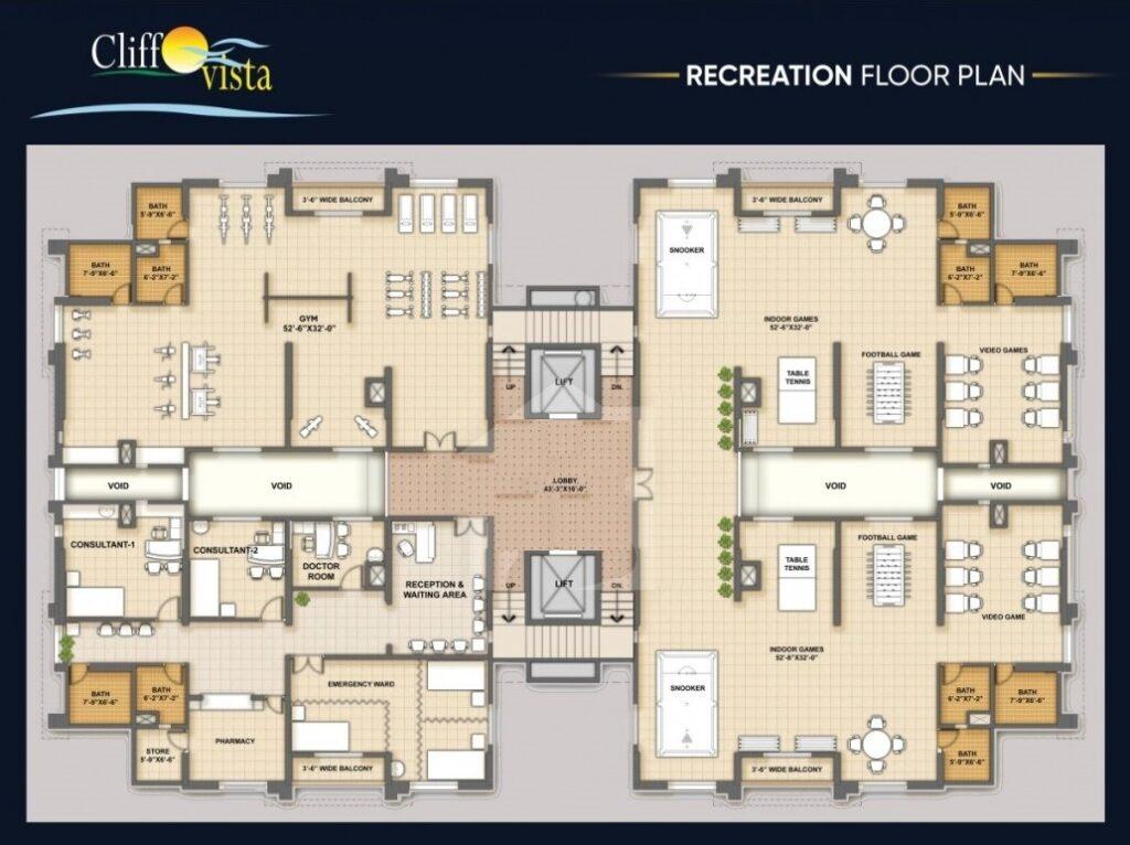 Recreation-floor-plan-cliff-vista-karachi
