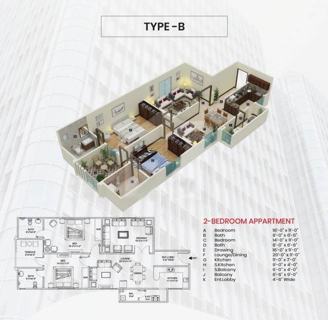 Third-Floor-Type-B-plan-maymar-pride-karachi
