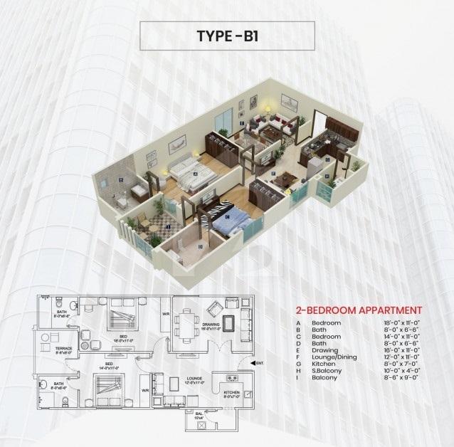 Third-Floor-Type-B1-plan-maymar-pride-karachi
