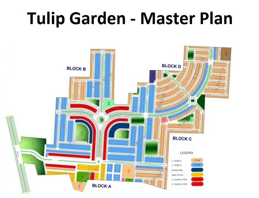 Tulip-Garden-Lahore-Master-Plan-Map