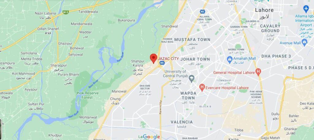 location-map-Jazac-City-Lahore