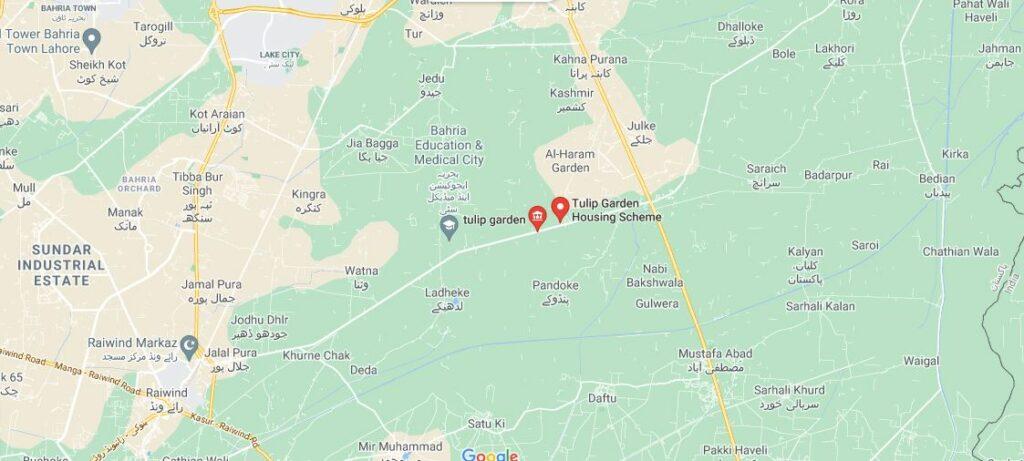location-map-Tulip-Garden-Lahore
