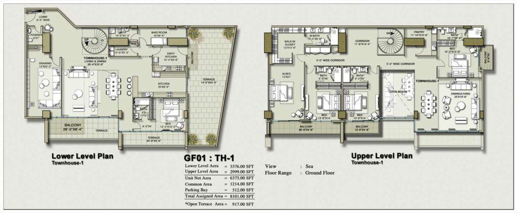 townhouse-layout-Plan-Map-1