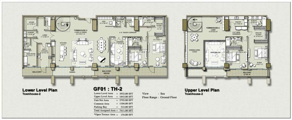townhouse-layout-Plan-Map-2