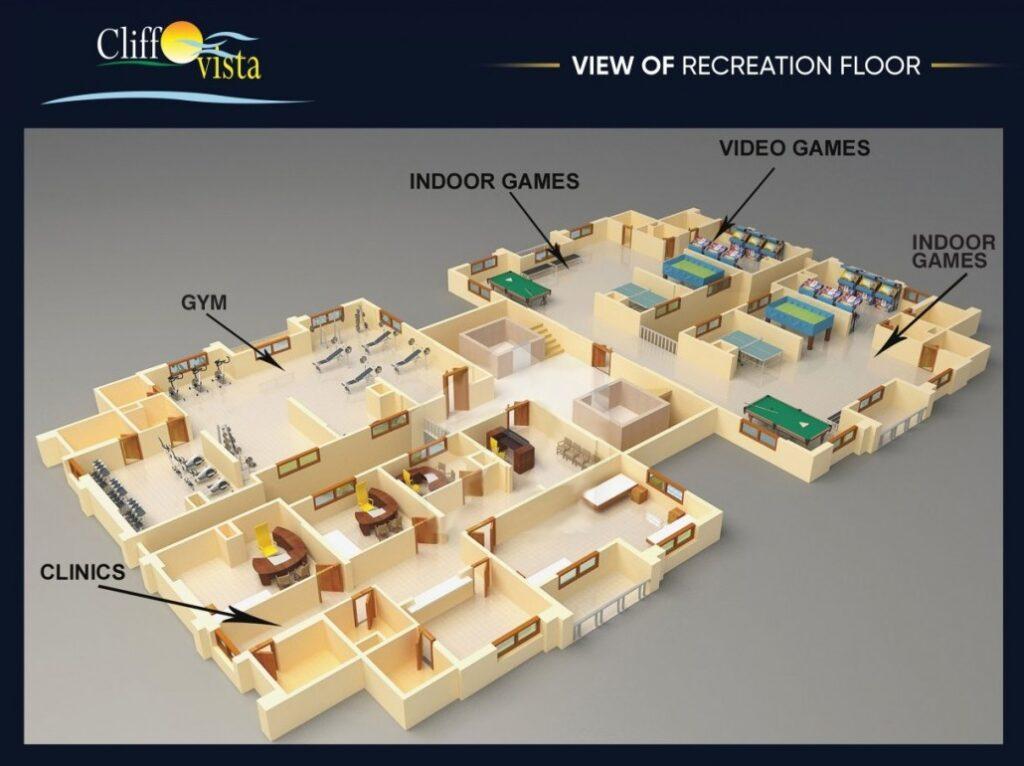 view-of-Recreation-floor-plan-cliff-vista-karachi
